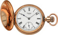 Timepieces:Pocket (pre 1900) , Waltham 14k Gold Model 1884 . ...