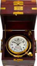 Timepieces:Other , Russian Naval Ships Chronometer With 56 Hour Wind Indicator. ...