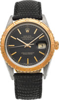 Timepieces:Wristwatch, Rolex Ref. 16253 Vintage Two Tone Datejust With Rare Dial &Thunderbird Bezel. ...