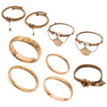 Estate Jewelry:Bracelets, Victorian Gold-Filled Bracelets . ... (Total: 9 Items)