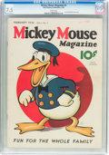 Platinum Age (1897-1937):Miscellaneous, Mickey Mouse Magazine #5 (K. K. Publications/Western PublishingCo., 1936) CGC VF- 7.5 White pages....