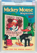 Platinum Age (1897-1937):Miscellaneous, Mickey Mouse Magazine #10 (K. K. Publications/Western PublishingCo., 1936) CGC VF/NM 9.0 Off-white to white pages....