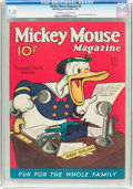 Platinum Age (1897-1937):Miscellaneous, Mickey Mouse Magazine #8 (K. K. Publications/Western Publishing Co., 1936) CGC FN/VF 7.0 Off-white to white pages....