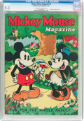 Platinum Age (1897-1937):Miscellaneous, Mickey Mouse Magazine #9 (K. K. Publications/Western PublishingCo., 1936) CGC VF 8.0 Off-white to white pages....