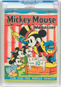 Platinum Age (1897-1937):Miscellaneous, Mickey Mouse Magazine V2#13 (K. K. Publications/Western PublishingCo., 1937) CGC VF- 7.5 Off-white to white pages....