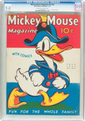 Platinum Age (1897-1937):Miscellaneous, Mickey Mouse Magazine V2#10 (K. K. Publications/Western PublishingCo., 1937) CGC VF/NM 9.0 Off-white to white pages....