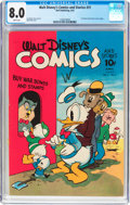 Golden Age (1938-1955):Cartoon Character, Walt Disney's Comics and Stories #31 (Dell, 1943) CGC VF 8.0 Whitepages....