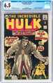 The Incredible Hulk #1 (Marvel, 1962) CGC FN+ 6.5 Off-white to white pages