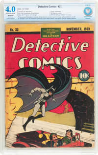 Detective Comics #33 (DC, 1939) CBCS Restored (Moderate) VG 4.0 Off-white to white pages