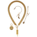 Estate Jewelry:Lots, Victorian Diamond, Gold, Gold-Filled Watch Chains, Fobs Lot . ... (Total: 4 Items)