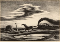 Thomas Hart Benton (American, 1889-1975) The Race, 1942 Lithograph 8-7/8 x 13-1/4 inches (22.5 x
