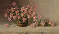 , Amédée Joullin (American, 1862-1917). Still life with PinkRoses, 1891. Oil on canvas. 33-1/2 x 55 inches (85.1 x 139.7...