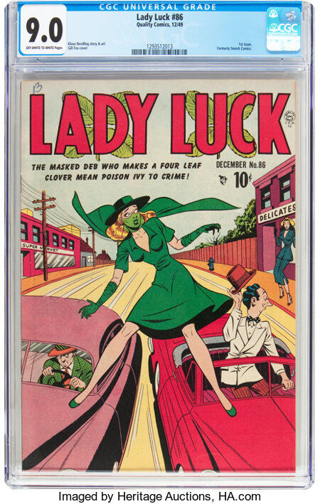 Lady Luck #86 (#1) (Quality, 1948) CGC VF/NM 9.0 Off-white to white pages....