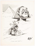 Original Comic Art:Comic Strip Art, Ray Fisher and Others John L. Lewis Caricature and OthersOriginal Art Group of 3 (c. 1920s-40s).... (Total: 3 Original Art)