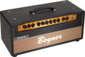 Musical Instruments:Amplifiers, PA, & Effects, Circa 1996 Bogner Shiva Black Amplifier Head Previously Owned bySteve Miller, Serial #096433....