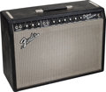 Musical Instruments:Amplifiers, PA, & Effects, 1967 Fender Deluxe Reverb Black Guitar Amplifier, Serial#A20078....