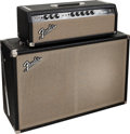 Musical Instruments:Amplifiers, PA, & Effects, 1965 Fender Bandmaster Black Guitar Amplifier, Serial #A09599....(Total: 2 )