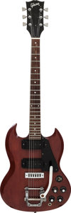 Musical Instruments:Electric Guitars, Circa 1972 Gibson SG Pro Cherry Solid Body Electric Guitar, Serial#727356....