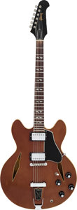 Musical Instruments:Electric Guitars, 1968 Gibson Trini Lopez Sparkling Burgundy Metallic Semi-HollowBody Electric Guitar, Serial # 042139....