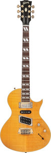 Musical Instruments:Electric Guitars, 1994 Gibson Nighthawk Amber Solid Body Electric Guitar, Serial#94037009....