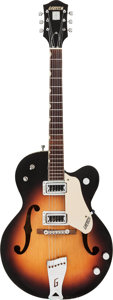 Musical Instruments:Electric Guitars, 1963 Gretsch 6117 Sunburst Semi-Hollow Body Electric Guitar, Serial#58458....