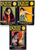 Pulps:Detective, Detective Book Magazine Group of 3 (Fiction House, 1931) Condition:Average VG+.... (Total: 3 Comic Books)