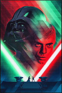 """Return of the Jedi by Kevin Tong (Mondo, 2016). Numbered Limited Edition Screen Print Poster (24"""" X 36""""). Scie..."""