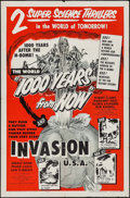 "Movie Posters:Science Fiction, 1000 Years from Now/Invasion USA Combo (American Picture Company,R-1956). One Sheet (27"" X 41""). Science Fiction.. ..."