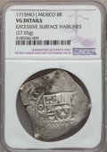 Mexico, Mexico: Philip V Cob 8 Reales 1715 Mo-J VG Details (ExcessiveSurface Hairlines) NGC,...