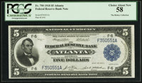 Fr. 790 $5 1918 Federal Reserve Bank Note PCGS Choice About New 58