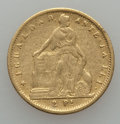 Chile, Chile: Republic gold 2 Pesos 1857-So Fine,...