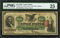 Large Size:Legal Tender Notes, Fr. 95b $10 1863 Legal Tender PMG Very Fine 25.. ...