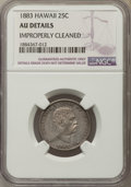 Coins of Hawaii , 1883 25C Hawaii Quarter -- Improperly Cleaned -- NGC Details. AU.NGC Census: (33/1177). PCGS Population: (96/1634). CDN: $...