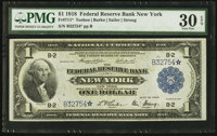 Fr. 711* $1 1918 Federal Reserve Bank Note PMG Very Fine 30 EPQ