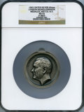 U.S. Presidents & Statesmen, 1965 Lyndon B. Johnson Inaugural Medal, Medallic Art Co. NY, MS65NGC. #5865, Silver, 64mm. ...
