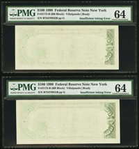 Fr. 2173-B $100 1990 Federal Reserve Note. PMG Choice Uncirculated 64