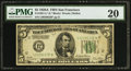 Small Size:Federal Reserve Notes, Fr. 1951-L* $5 1928A Federal Reserve Note. PMG Very Fine 20.. ...