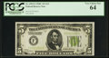 Small Size:Federal Reserve Notes, Fr. 1953-F $5 1928C Federal Reserve Note. PCGS Very Choice New 64.. ...
