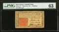 Colonial Notes:New Jersey, New Jersey March 25, 1776 3s PMG Choice Uncirculated 63.. ...