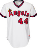 Baseball Collectibles:Uniforms, 1982 Reggie Jackson Game Worn California Angels Jersey. ...