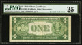 Error Notes:Inverted Reverses, Fr. 1607 $1 1935 Silver Certificate. PMG Very Fine 25.. ...