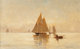 Emil Carlsen (American, 1853-1932) Sailboats in the Evening Oil on canvas 14-1/4 x 22 inches (36.2 x 55.9 cm) Signed