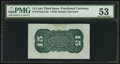 Fr. 1272SP 15¢ Third Issue Wide Margin Green Back PMG About Uncirculated 53