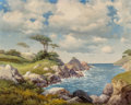 Fine Art - Painting, American:Modern  (1900 1949)  , Robert William Wood (American, 1889-1979). Monterey,California. Oil on canvas. 24 x 30 inches (61 x 76.2 cm).Signed lo...