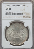 Mexico, Mexico: Republic 8 Reales 1897 Go-RS MS62 NGC,...
