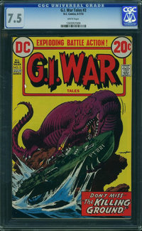 G.I. War Tales #2 (DC, 1973) CGC VF- 7.5 White pages