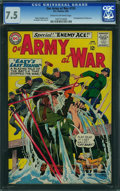 Silver Age (1956-1969):War, Our Army at War #153 (DC, 1965) CGC VF- 7.5 Cream to off-white pages.