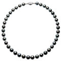 Estate Jewelry:Pearls, Black South Sea Cultured Pearl, Silver Necklace . ...