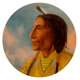 Charles Marion Russell (American, 1864-1926) Wolf Robe, circa 1896 Oil on canvas 10 inches (25.4 cm) (tondo) Signed
