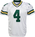 Football Collectibles:Uniforms, 2007 Brett Favre Game Worn, Signed Green Bay Packers Jersey - Used 11/22 vs. Lions (Photo Matched, With Team Repair!). ...